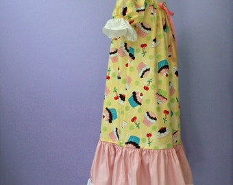 Girls size 4  Cotton Nightgown, SAMPLE SALE