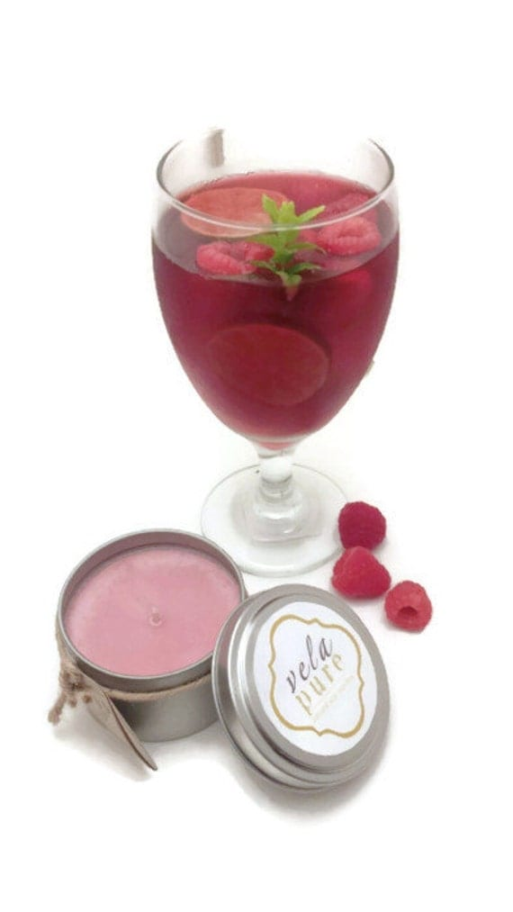 6 oz. Raspberry Sangria Soy Candle (Summer Fragance)