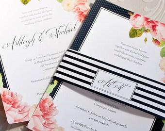 Botanical Wedding Invitations: sample