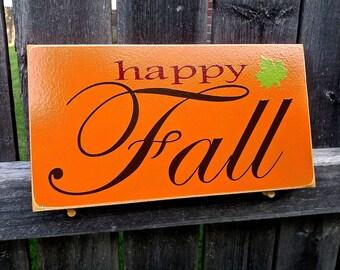 Happy Fall Decor Sign