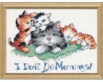 Cross Stitch Kit - I Don't Do Mornings