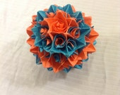 Blue and Orange Paper Centerpiece