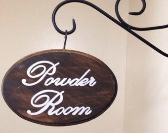Adorable Bathroom Sign (Powder Room) (5x7)