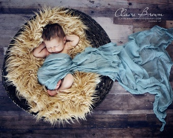 Blue Cheesecloth baby wrap high grade, photography prop