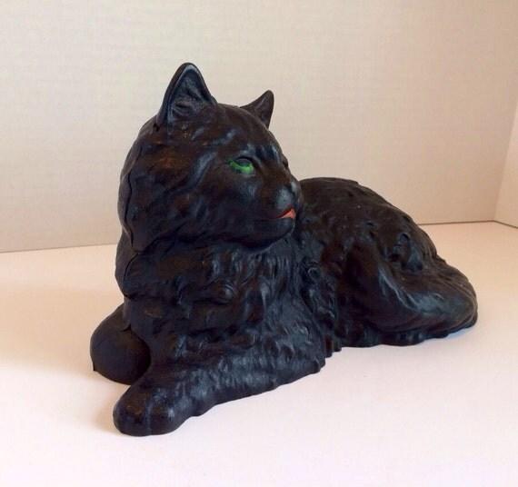 Cast iron cat doorstop fireside vintage by iron art - Cast iron cat doorstop ...