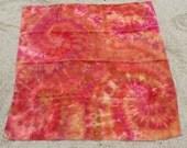 Linen Fiery Tie-Dyed Baby Blanket