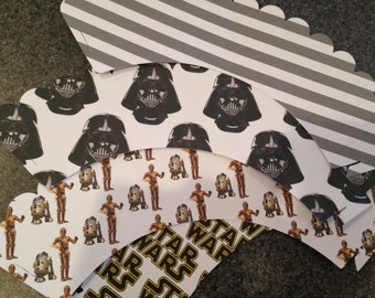 Star wars Cupcake Wrappers   Set of 12