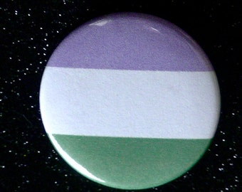 Genderqueer Button - Pride Flag colors - 1.5 inch button/pins - non binary - Gender Queer