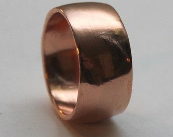 Custom Copper Ring, domed