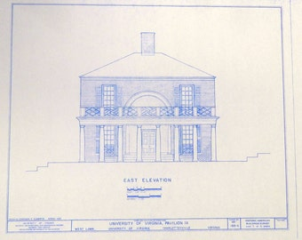 University of Virginia Pavilion IX Blueprint