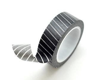 Washi Tape Paper Masking Tape - Black Stripes