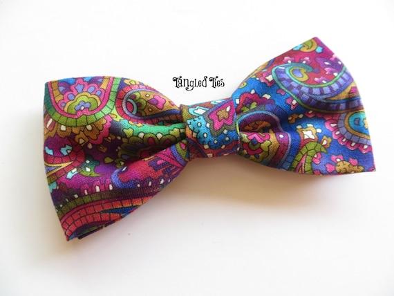 Paisley Jewel Tone Bow Tie