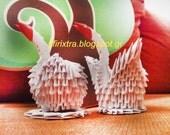 Origami 3d swan Gift, wedding decoration, handmade handfolded paper craft EGST