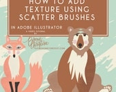 adding texture using scatter brushes in adobe illustrator tutorial