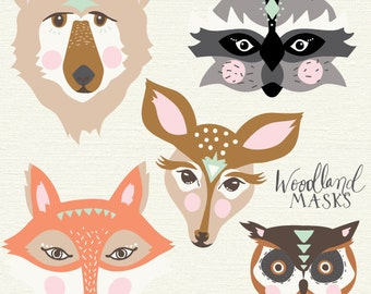 Owl printable mask etsy for Woodland animal masks template