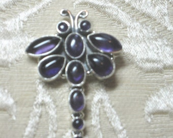 GET 15% OFF Dragonfly Amethyst Sterling Silver Pendant