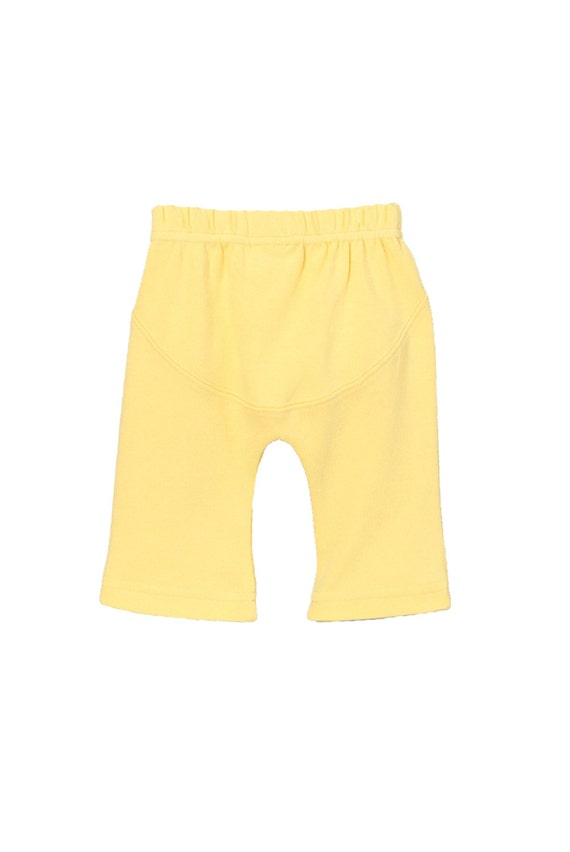 Organic baby yoga pants Yellow by ParadeOrganicsBabyCo on