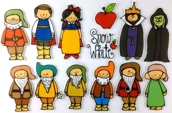 Snow White Felt Board Story Set by byMaree on Etsy