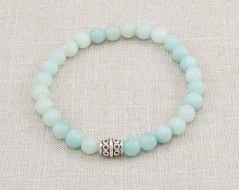 Amazonite Bracelet - Friendship Gift - Blue/Green - Yoga Bracelet - Meditation Bracelet - Energy Bracelet - Spiritual Jewelry  - Item # 332