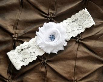 White Wedding Garter, White Bridal Garter - White Lace Garter, Toss Garter, Blue Garter, Something Blue Wedding Garter Belt, White Garter