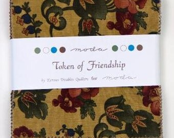 Token of Friendship Charm Pack by Kansas Troubles Quilters for Moda