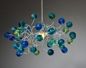 Pendant lighting. sea color bubbles.