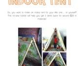 No-Sew Indoor Tent Tutorial