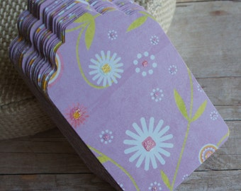 Sale: Paper Tags, Gift Tags, Purple Tag Set of 10
