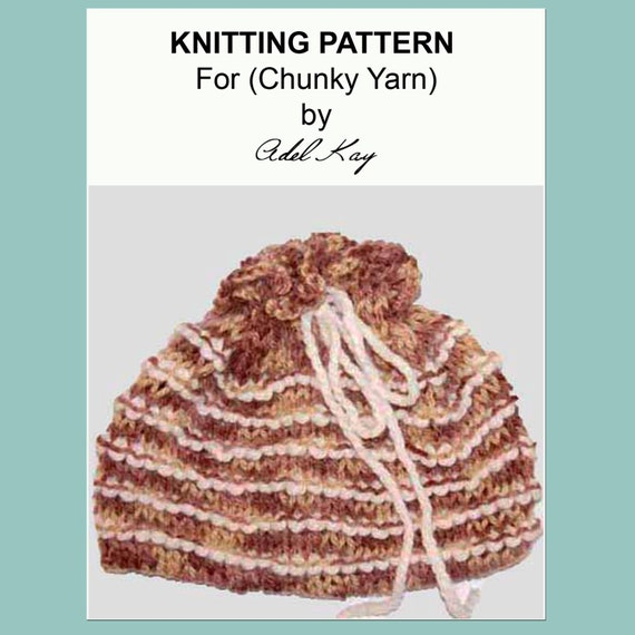 Yarn Holder Knitting Pattern : Knitting Pattern PDF Document Cordelia Draw String Dorothy
