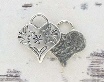 ONE Southwest Stamped Heart Charm - Starburst