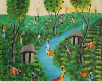 Haitian Painting  By Sanon