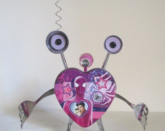 SPIDER GIRL- Found object robot sculpture~assemblage