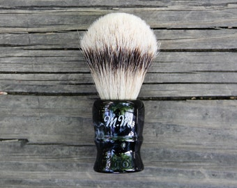Personalized Shave Brush - Straight Razor - Safety Razor - Men's Grooming - Classic Shaving - Silvertip Badger - Wet Shaving - Gifts for Men