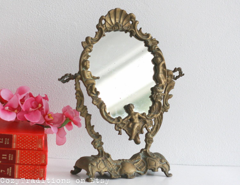 Vanity Mirror Table Makeup Mirror On Stand Vintage Victorian