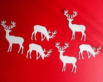 White Christmas Little Deer set of 24