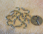 10 Stainless Steel Cup Hooks