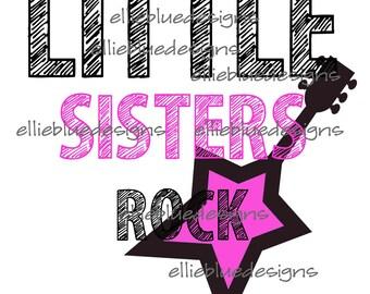 Little Sisters Rock Iron on transfer