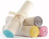 Organic Swaddle Blanket - Custom Colors-  Baby Shower Gift Baby Wrap Receiving Blanket - DANISH MIDWIFE