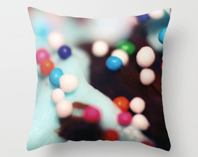Cupcake Sprinkles - Throw Pillow Cover Includes Pillow Insert - Original Photo - Made to Order