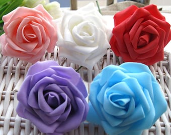 Artificial Foam Rose Real Touch Flowers For Wedding Bridal Bouquet  Table Centerpiece Home Decor Wholesale Lot 3""