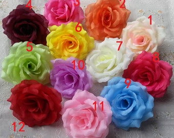 "10cm 4"" Silk Rose Flowers Rose Heads 30 Heads/set For Pomander Kissing Ball Floral Wedding Arrangement Flower Supplies"