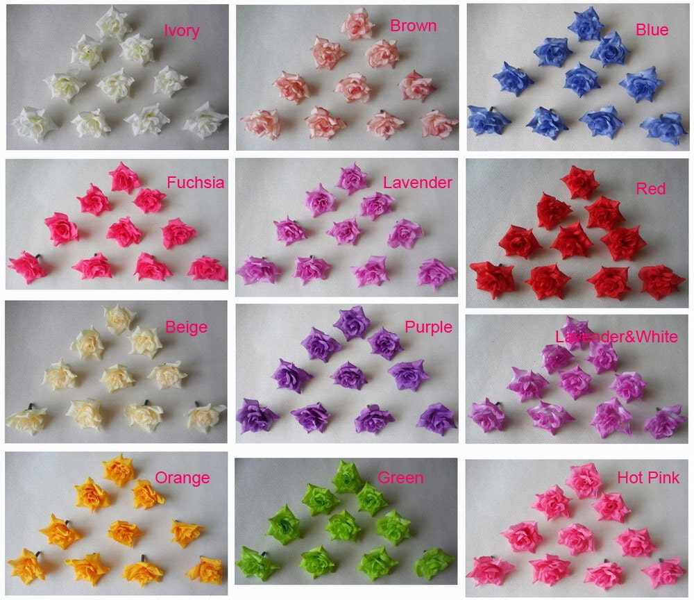 Flower heads for crafts - 4cm Silk Rose Flower Heads Artificial Flower Heads 100pcs For Wedding Decor Hair Clips Corsage Diy Crafts Wholesale Lots