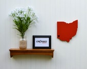 """Cincinnati Bearcats """"State Heart"""" wall art, handcrafted wood with official team colors"""