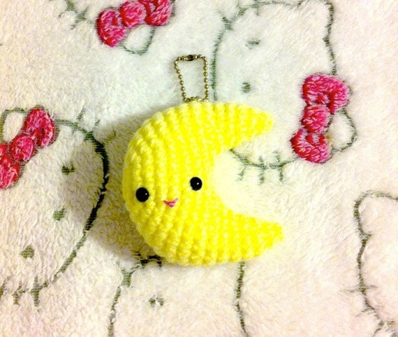 Items similar to Crochet Amigurumi Kawaii Three Inch ...