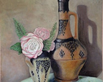 Roses and Moroccan Pottery