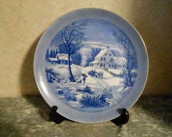 1940's Currier & Ives Collector's Plate