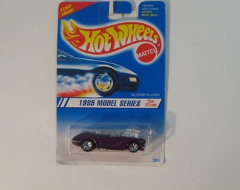 """Mattel Hot Wheels '58 Corvette Coupe """"New for 1995 First Edition""""  - Color Variation"""