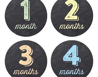 Chalkboard Fun - Baby Milestone Stickers (1-12 months)