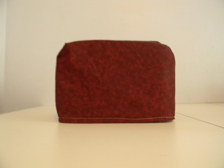 two slice toaster cover burgundy garnet print fabric. Black Bedroom Furniture Sets. Home Design Ideas