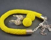 yellow Bracelet Jewelry, Bracelets, Beadwork, - BeadsAmi